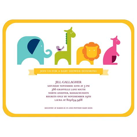Baby Invitations by Jungle Parade Baby Shower Invitations Custom Designs