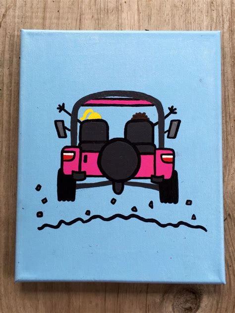 jeep painting canvas best 25 sorority canvas paintings ideas on