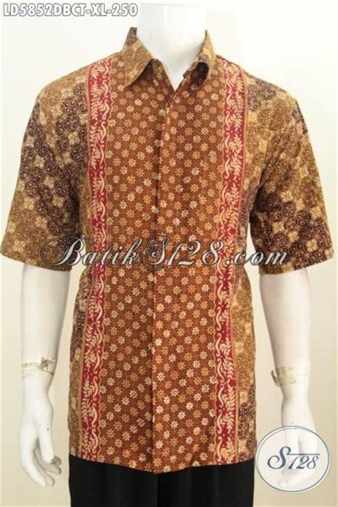 produk baju batik pria dewasa hem batik bagus desain baju batik pria dewasa hem batik lengan pendek modis