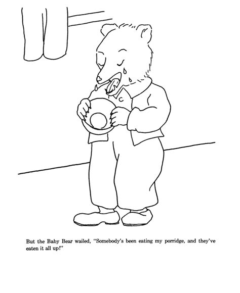 Goldilocks Coloring Pages Bestofcoloring Com Goldilocks And The Three Bears Colouring Pages