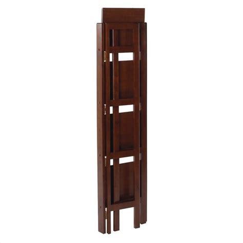Folding Bookcase Winsome 4 Tier Folding Shelf Antique Walnut Bookcase