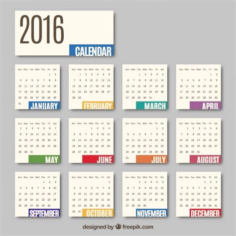 Calendario 2016 Italiano 2016 Monthly Calendar Vector Free