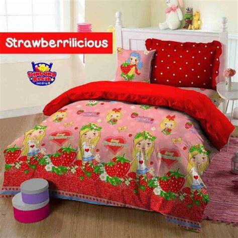 Harga Sprei Dan Merk detail produk sprei dan bedcover strawberrilicious toko