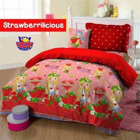 Harga Sprei Rumbai Merk detail produk sprei dan bedcover strawberrilicious toko