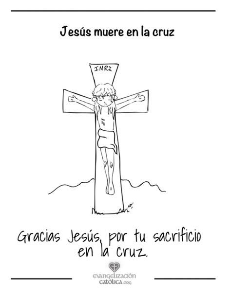 imagenes de jesus en la cruz para colorear dibujo de una cruz para colorear en semana santa