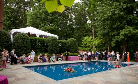 At Home Wedding Backyard Pool Wedding Ideas