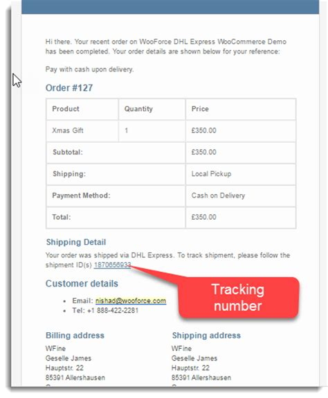 track order number how to setup tracking number in order completion email