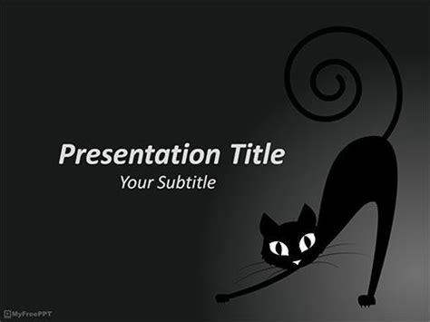 powerpoint templates free download halloween free halloween cat powerpoint template powerpoint