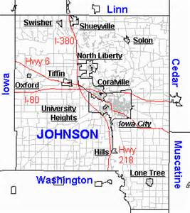 johnson county map iowa information network johnson county