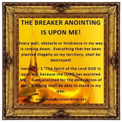 prayers and declarations for the of god confront strongholds and stand firm against the enemy books www jesuschristislordmdc net the breaker anointing is