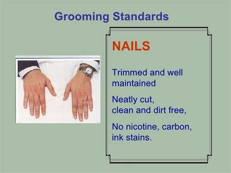 Standar Manicure slides of front office syllabus