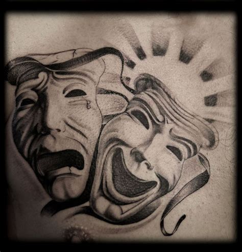 laugh now cry later tattoo design black and grey wash black and white la chicano gangster