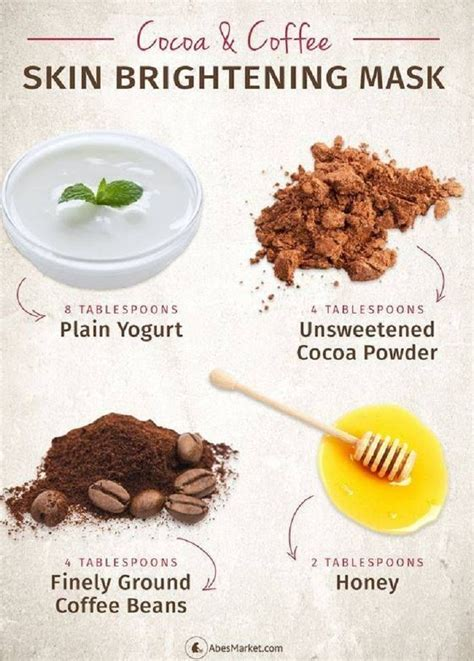 brightening mask diy diy cocoa and coffee skin brightening mask 14 best diy