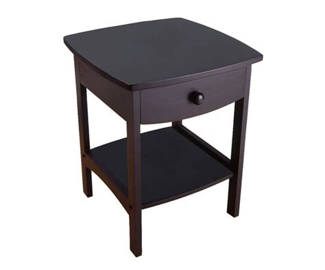 Curved Nightstand End Table Winsome Wood 20218 Curved End Table Stand