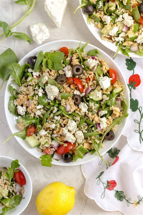 whole grains salad whole grain salad with lemon salmon and feta