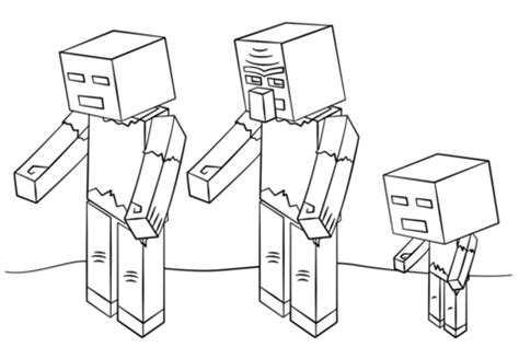 Coloriage Zombies De Minecraft Coloriages 224 Imprimer