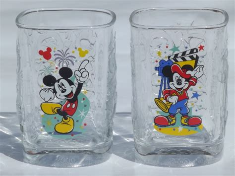 new disney set of 4 disney mickey mouse collectible mcdonald s glasses from 2000 set of 4