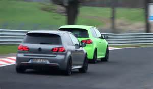 3x vw golf 6 r racing on the n 252 rburgring 1080p hd youtube
