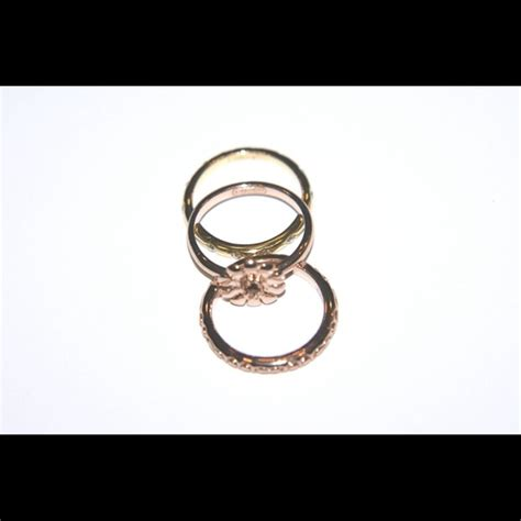 56 coach jewelry coach gold stacking rings
