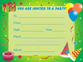birthday invitations for