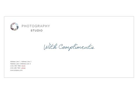 with compliments card template photographer photography studio print template pack from
