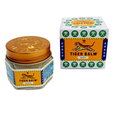 Tiget Balm Balsem tiger balm china balsam weiss 19g asia food specialities
