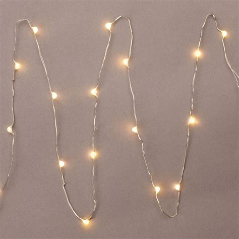 battery white christmas lights gerson 36903 18 light 3 silver wire warm white battery