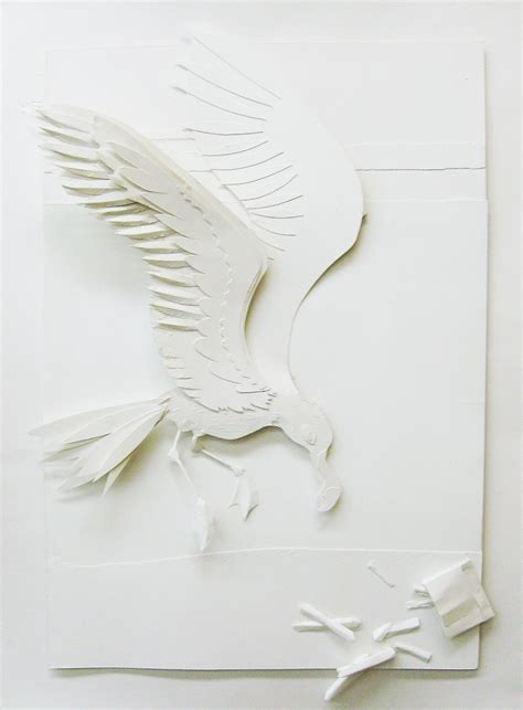 Paper Plate Seagull Craft - paper craft seagull by swordtosoul on deviantart