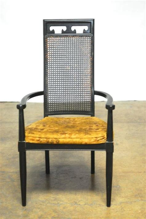 Asian Style Dining Chairs Set Of Eight Asian Style Black Lacquer Dining Chairs At 1stdibs