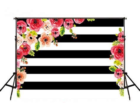 wallpaper daun hitam merah muda bunga daun hitam dan putih stripe kain latar
