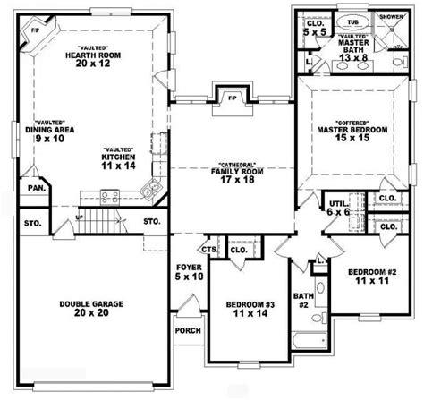 3 bedroom 3 bath floor plans 3 bedroom 2 bath 1 house plans beautiful plain house