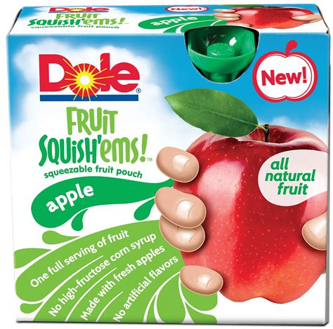 fruit 60 calories food and product reviews dole fruit squish ems food