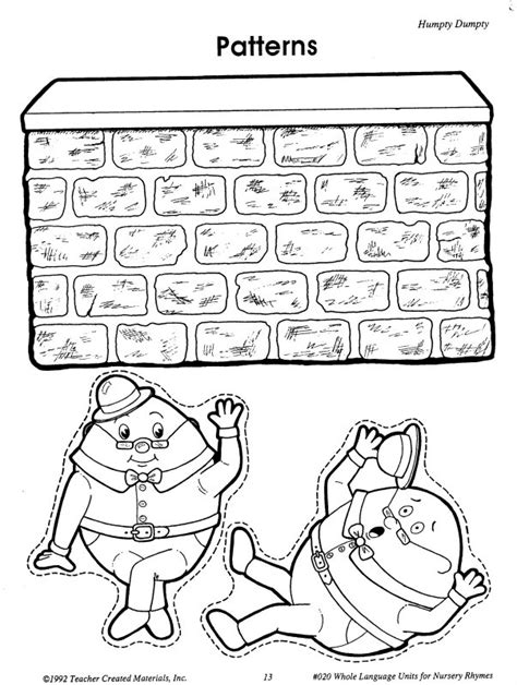 humpty dumpty puzzle template humpty dumpty printables learningenglish esl