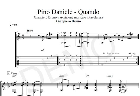 spartiti vasco chitarra spartito in notazione musicale e tabulato di quot quando quot