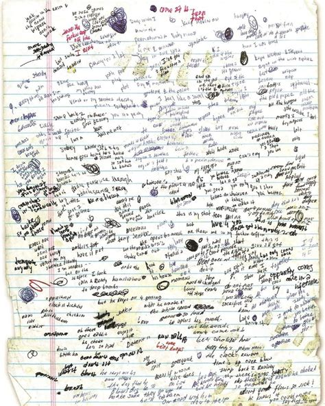 eminem lose yourself lyrics eminem handwritten lyrics to lose yourself damn genius