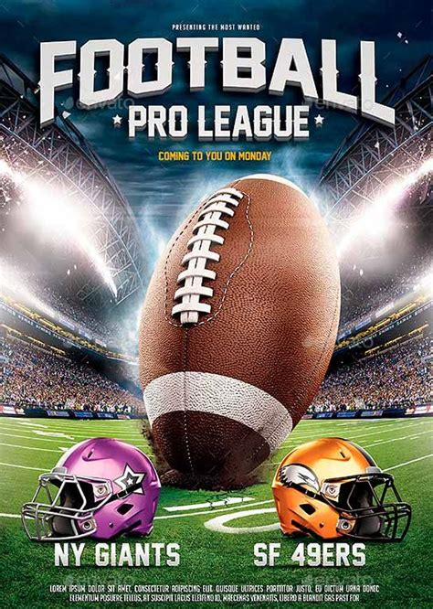 football c flyer template american football league flyer template http www