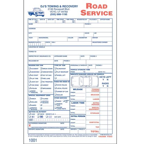 Towing Receipt Template by Tow Truck Invoice Invoice Template Ideas