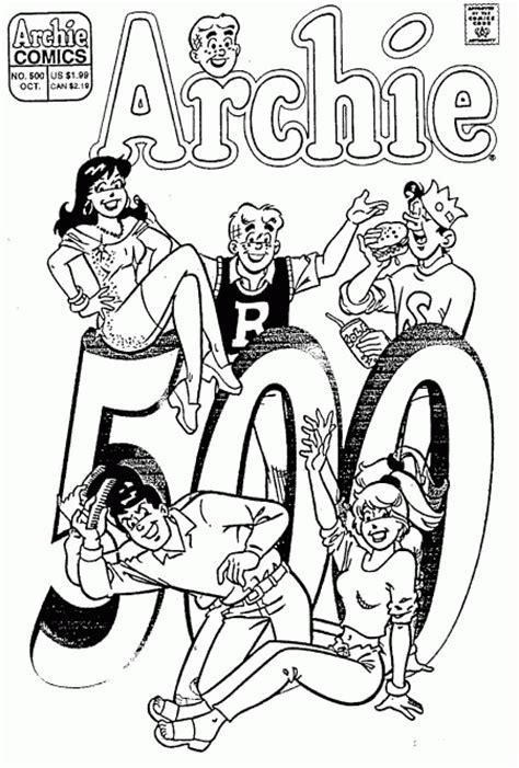 archie comics coloring pages coloring pages