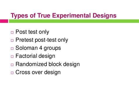 experimental design online quiz experimental research design