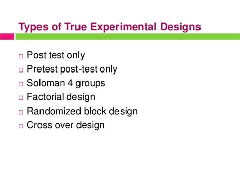 experimental design quiz experimental research design