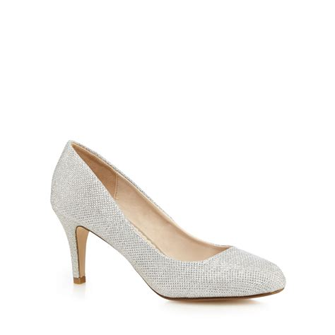 debut womens silver dawson mid court shoes from