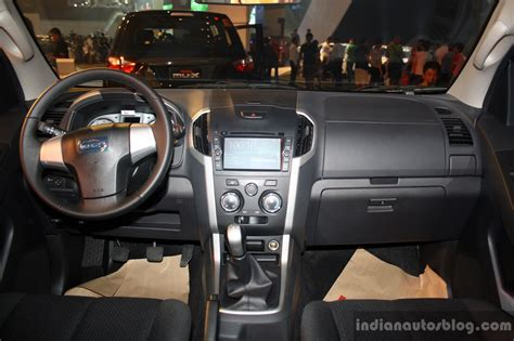 car interior upholstery philippines isuzu mu x interior at the ci 2014 indian autos blog