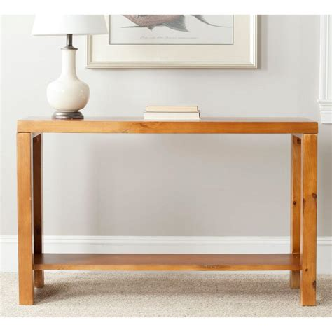 Light Oak Console Table Safavieh Lahoma Light Oak Console Table Amh6541f The Home Depot