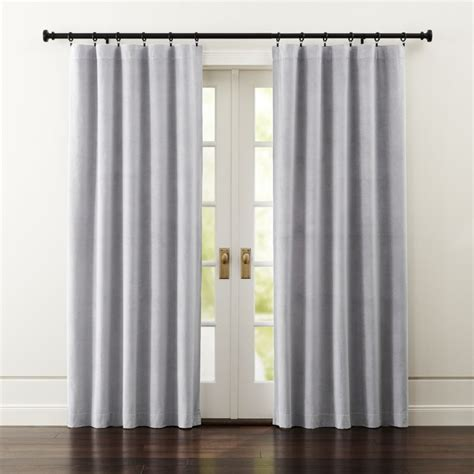 Windsor Light Grey Curtains Crate And Barrel