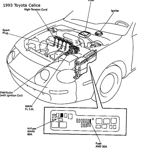 motor repair manual 1993 toyota celica interior lighting toyota celica questions where is the engine fuse located on 1993 toyota celica gt cargurus