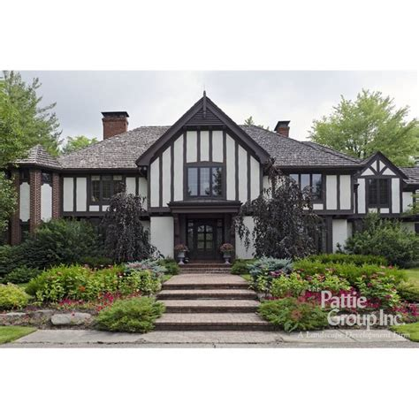 front elevations architecture pinterest tudor the o front yard landscape design tudor home the pattie group