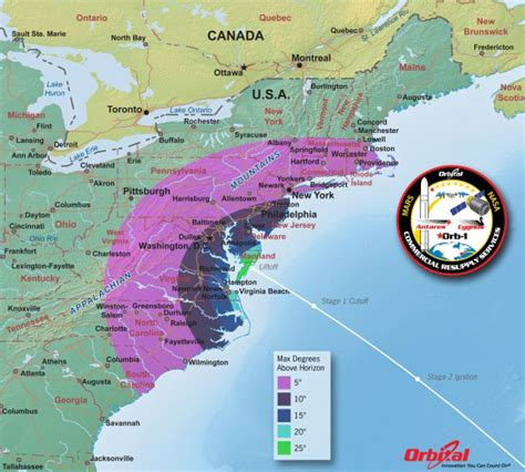 launch maps how to see spectacular antares commercial rocket launch to space station on jan 8 complete