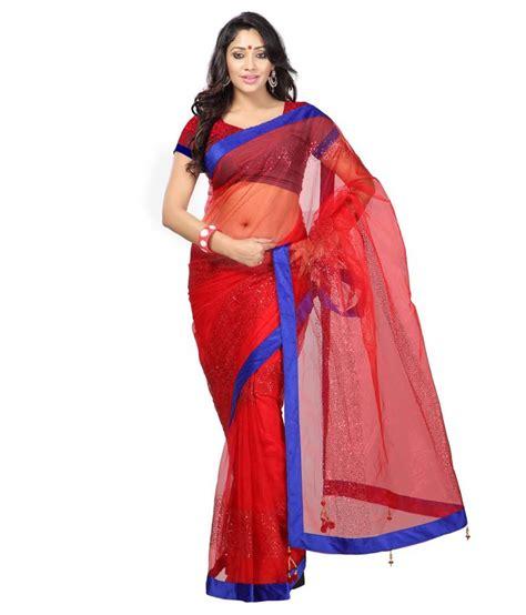 bca xxi buy 1 for 2 shree sarees red net saree buy shree sarees red net