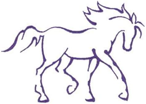 pattern horse drawing horse outline clipart best