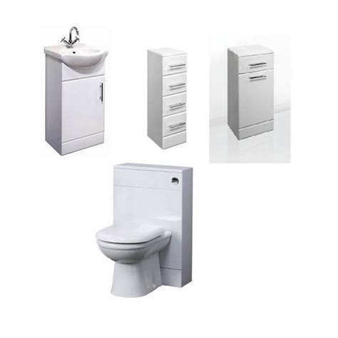Premier Bathroom Furniture Combination Basin Wc Vanity Unit Classic 450mm Bathroom Vanity Unit Laundry Basket 4 Drawer